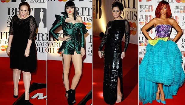 rihanna 2011 brits. The Brit Awards 2011 Red