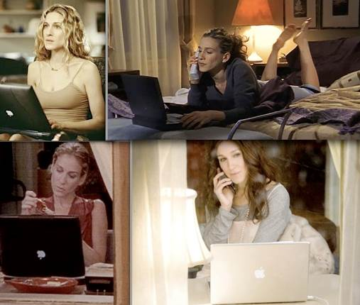 Carrie Bradshaw no seriado ''Sex And The City e seu Mac