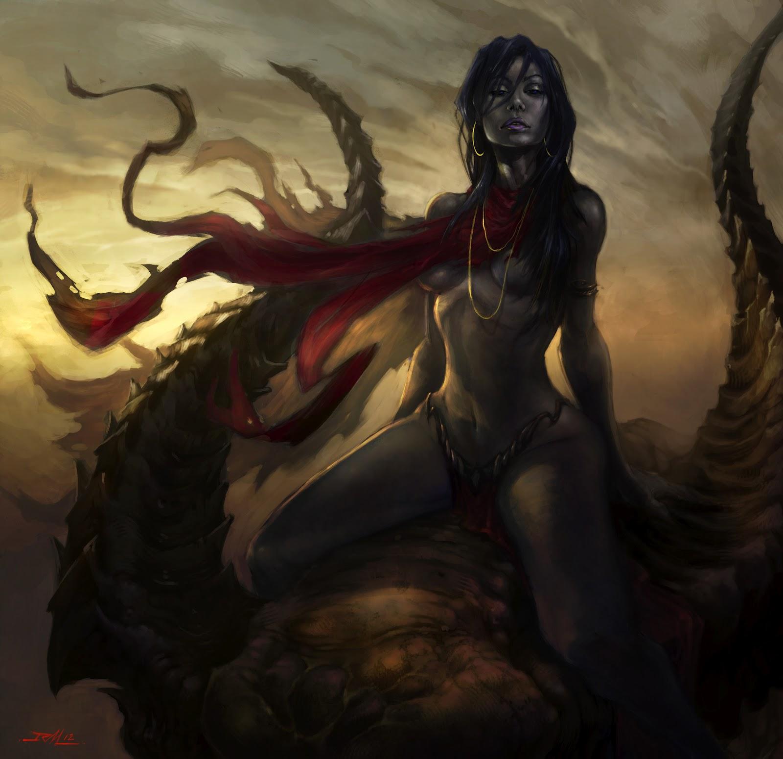 Картинки девушка дьяволица