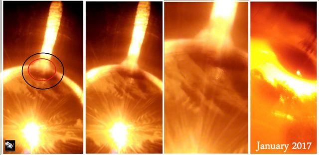 Γιγαντιαίο Σφαιρικό Αντικείμενο Βγαίνει από τον Ήλιο !