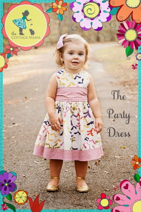 Pattern for sewing dress with bow sash