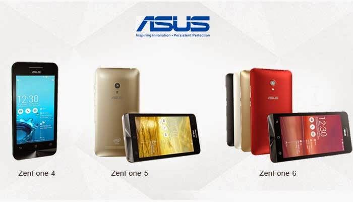 Harga dan Spesifikasi Asus Zenfone 4 & Zenfone 5 lengkap terbaru 2015