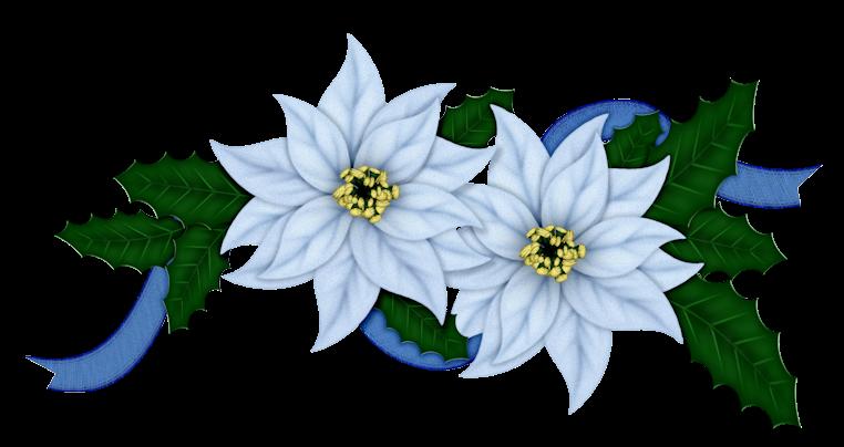 Flowers Of Christmas In Blue Clip Art Oh My Fiesta In