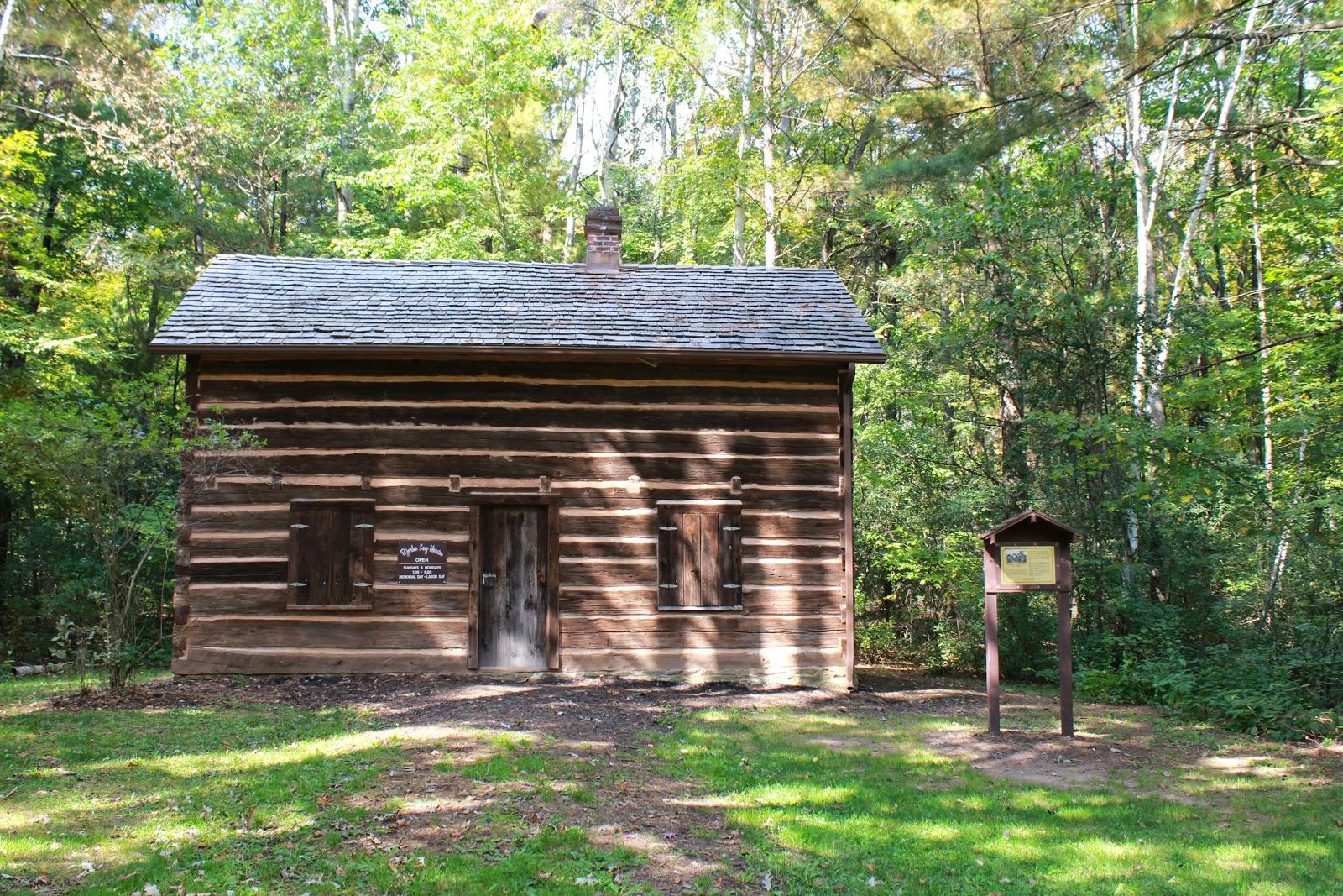 Wisconsin Historical Markers Pioneer Norwegian Log Home