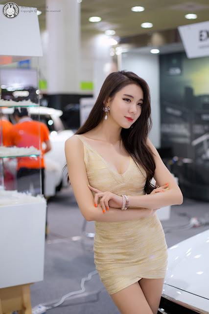 5 Min Yu Rin - 2015 Seoul Auto Salon - very cute asian girl-girlcute4u.blogspot.com
