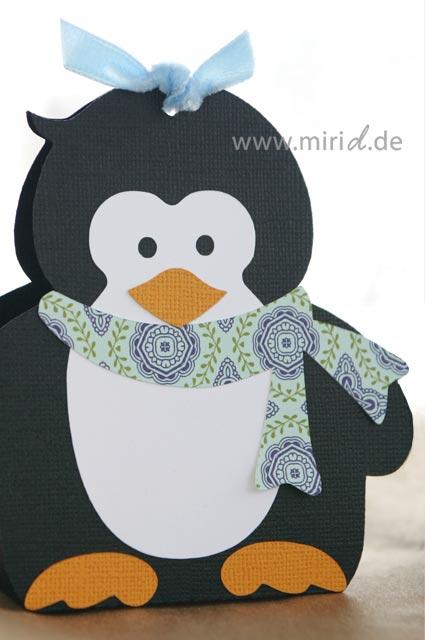 Geschenkschachtel pinguin penguin gift box - Pinguin basteln vorlage ...