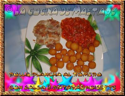 pollo plancha con salsa y patatas noisette Pollo+plancha+al+romero+con+salsa+y+patatas+noisette