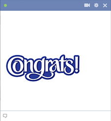 Congrats emoticon for Facebook