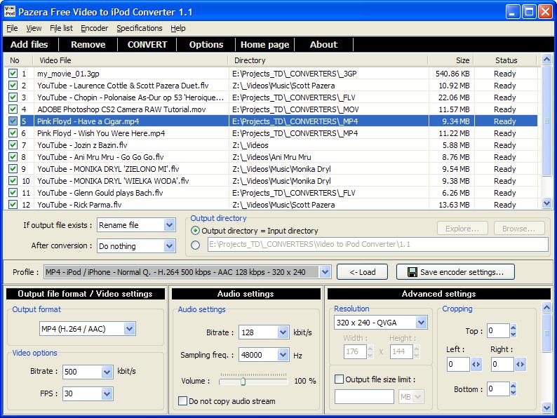 pazera-free-video-to-iPod-Converter
