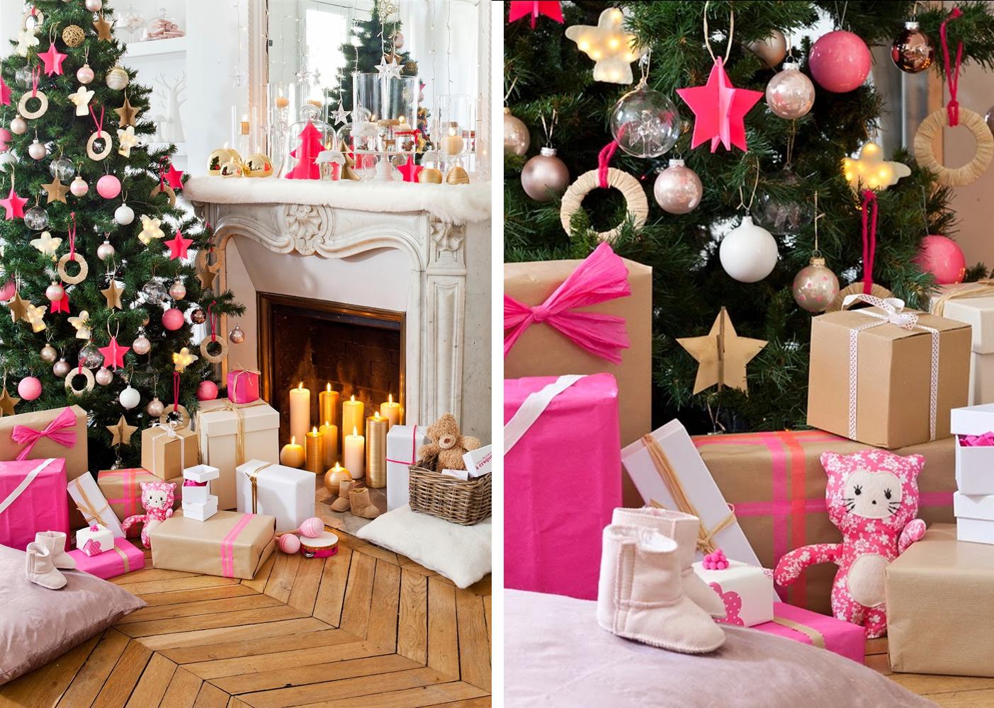 Decoraci n f cil mesa de navidad en rosa neon diy - Ideas para decorar mesa navidad ...
