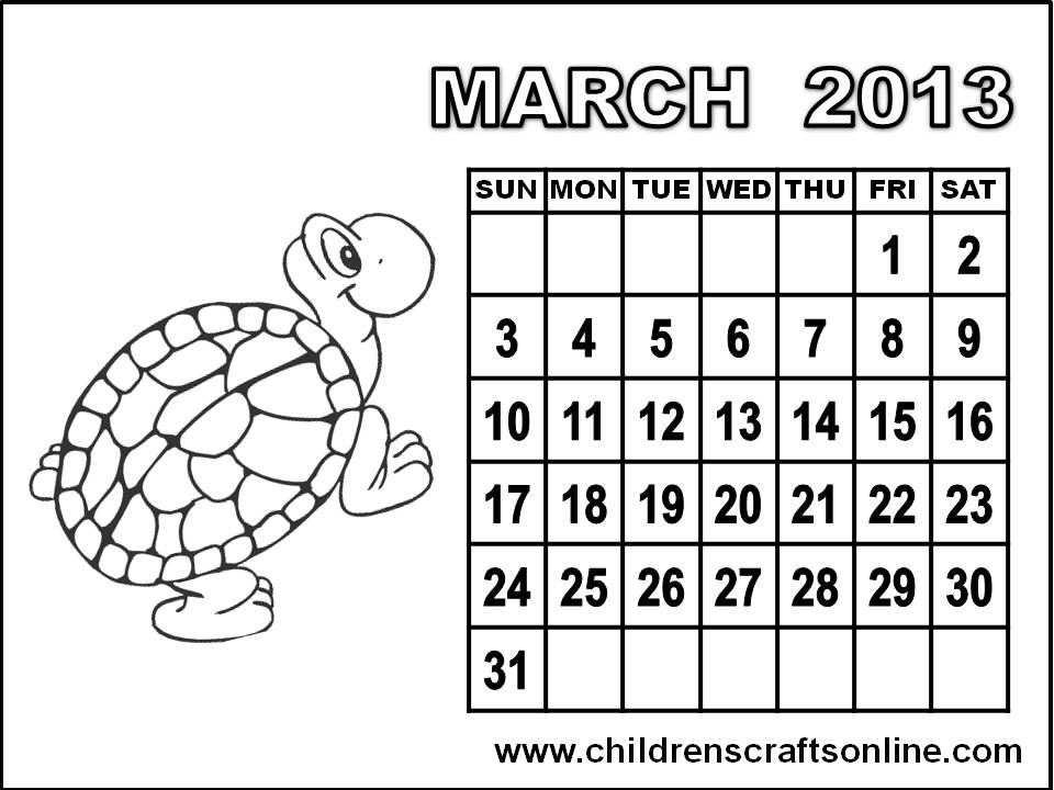 March Coloring Pages Pdf : Free pdf lds calendar just b use