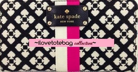 katspade classic black/pink neda wallet S$178
