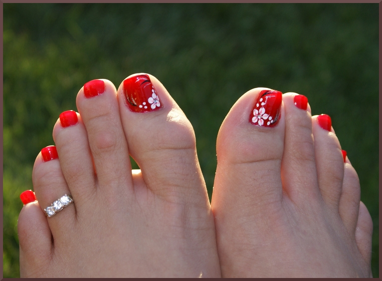 Nail art designs red toe nail designs nails ideas 50 toe nail designs if youre out of ideas and you cant choose a design the following 50 toe nail designs should be of great assistance prinsesfo Image collections