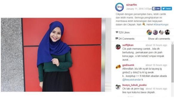 Feeya Iskandar, Deejay Sinar FM Ambil Keputusan Berhijab Sepenuhnya