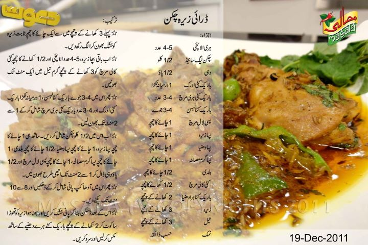 Collection Of Chicken Recipes