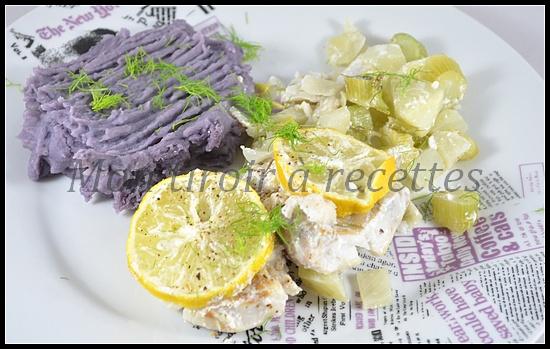 lieu noir papillote fenouil citron