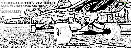 Capas para Facebook - frases do bob marley skate desenho grafiti esbosso sk8