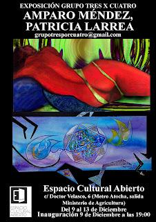 Invitación, Grupo Tres x Cuatro en Espacio Cultural Abierto