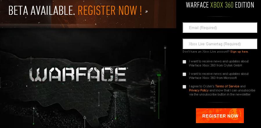 Apúntate a la Beta de Warface para Xbox 360