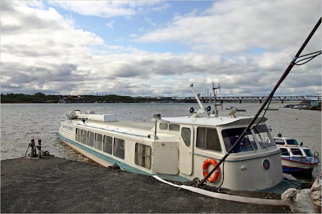 Река Норильская, причал ООО «Норильскникельремонт» турбазы «Легенды севера»