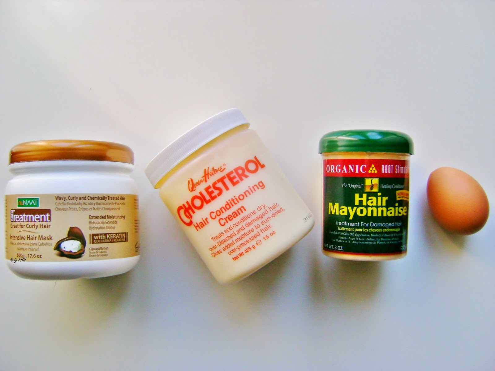 Mes masques capillaires favoris : Nunaat , Organic Roots Stimulator , Queen Helene, Aphogee