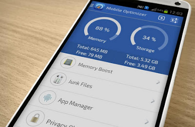 تطبيق Mobile Optimizer لمعالجة بطئ الهاتف وتحسين الأداء لهواتف أندرويد