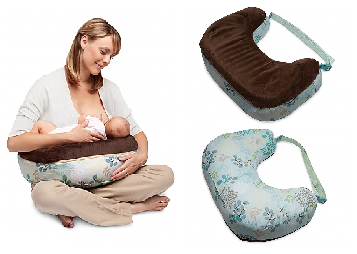 The Boppy Nursing Pillow Was Designed By A Lactation Consultant Just For  Nursing. It Has Two Sides For Successful Support. One Side Is Contoured  Foam That ...