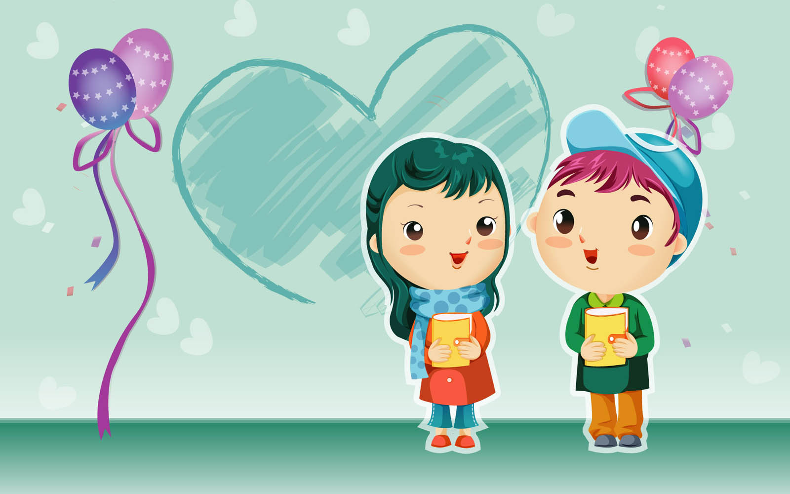 Romantic Love cartoon Wallpaper : wallpapers: cartoon Love Wallpapers