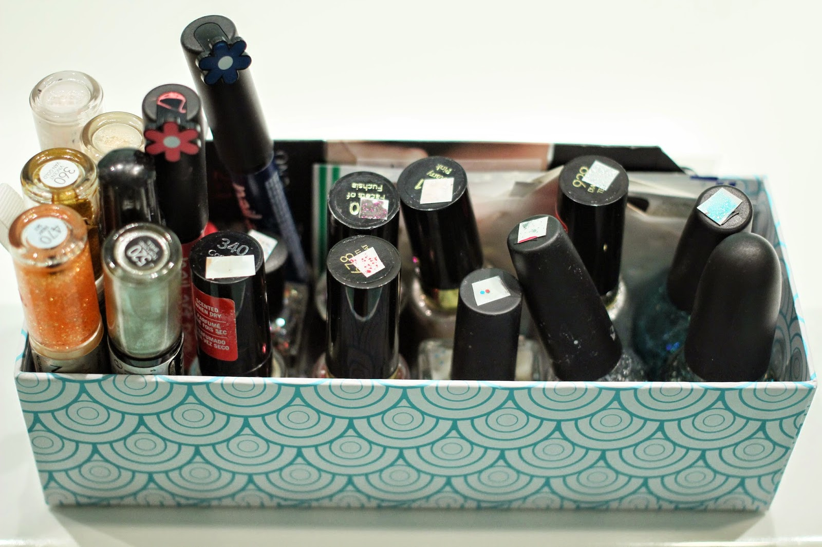 nail polish storage, nail polish collection, nail polsih organization, revlon nail polish