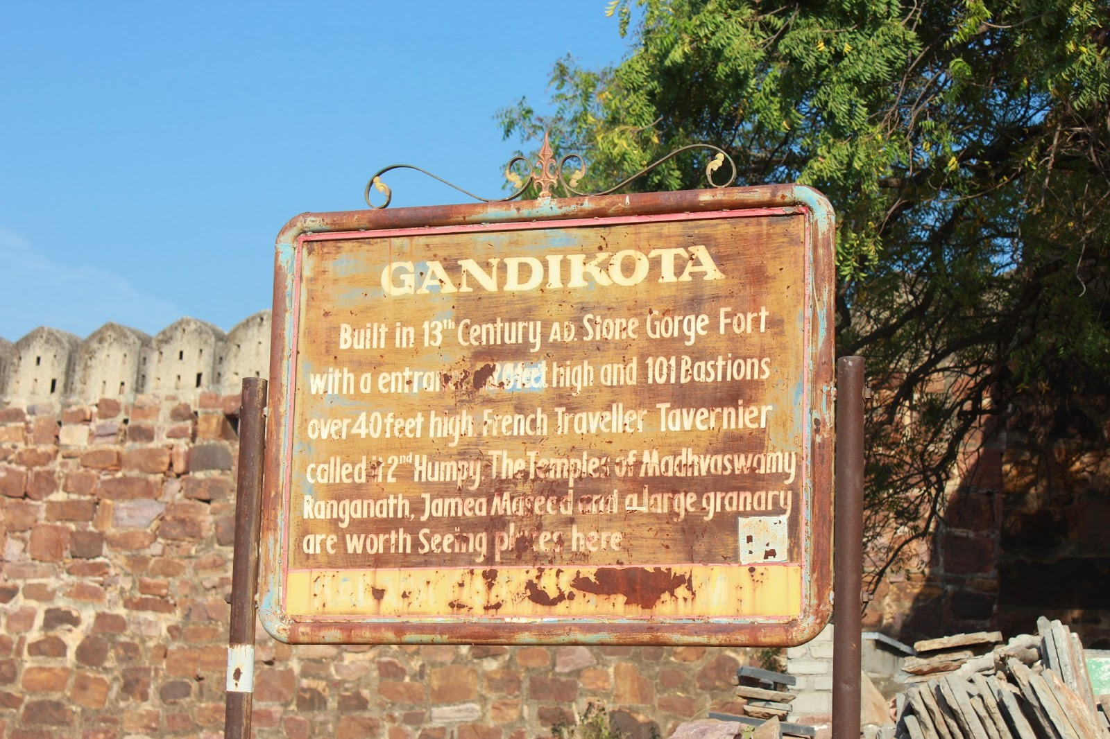 Gandikota fort travel blog