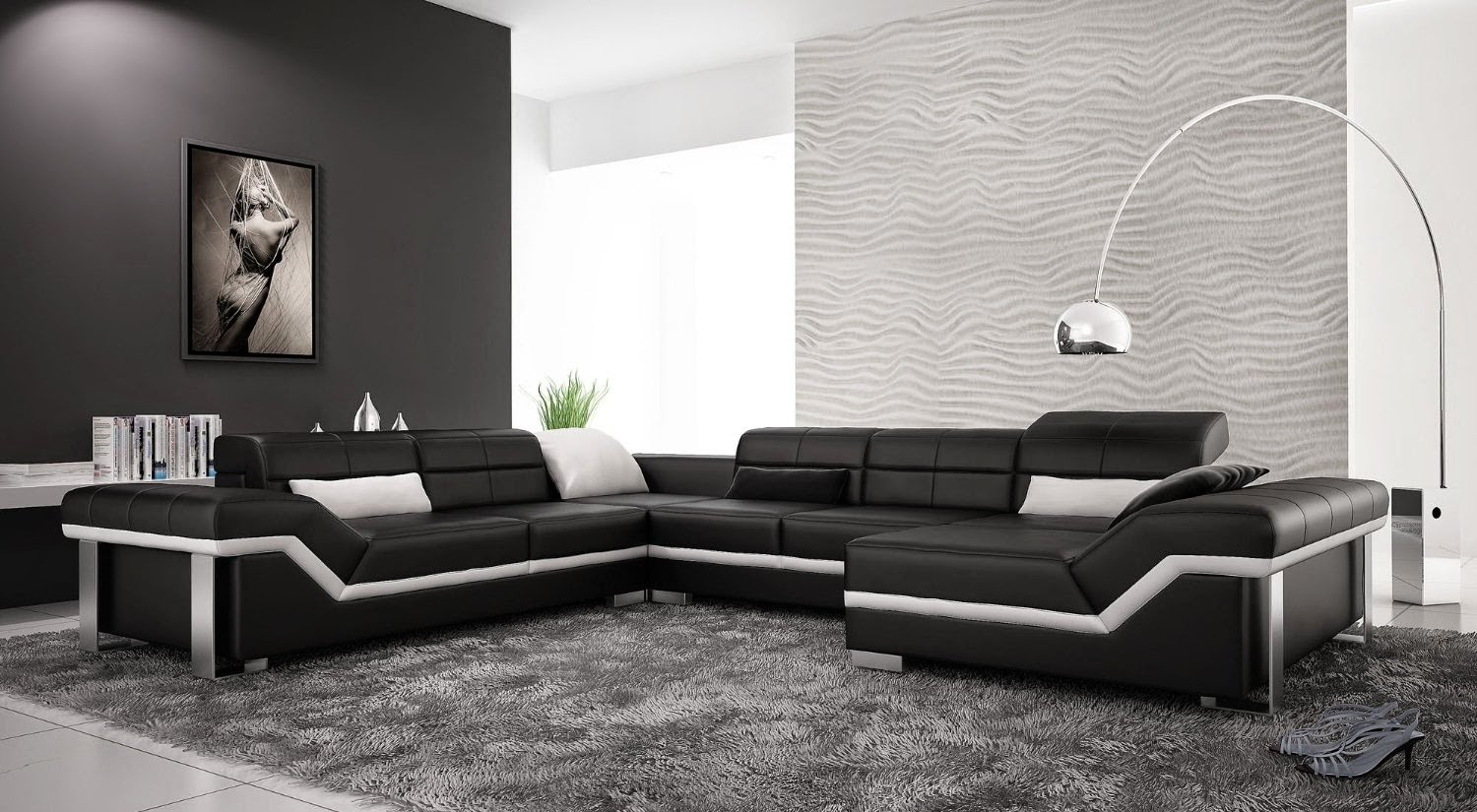 Black Leather Couch Modern Black Leather Couch