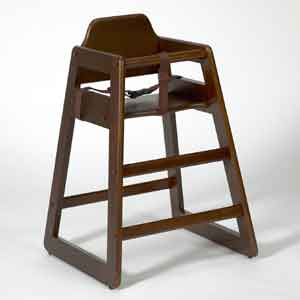 Baby High Chair Walnut