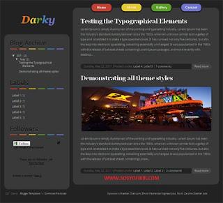 darky blogger teması,darky blogger theme,blogger themes