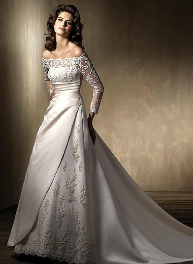 designer wedding gowns with sleeves