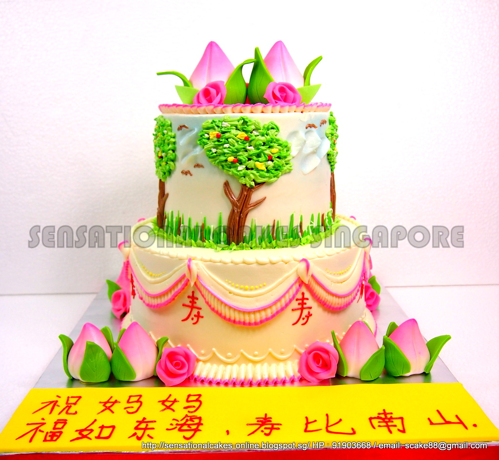The Sensational Cakes: LONGEVITY FU LU SHUO CAKE SINGAPORE