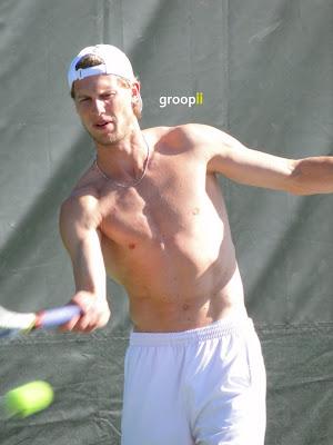Andreas Seppi Shirtless at Miami Open 2011