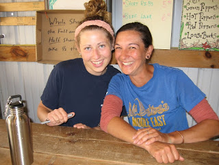 Delaney and Sarah at the Farm Stand