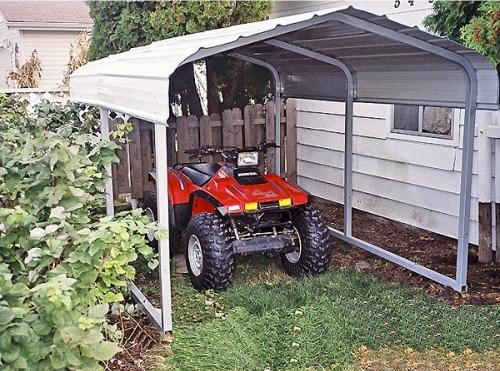 Portable Garages Indiana: 7x10x6 Steel Carport for Sale