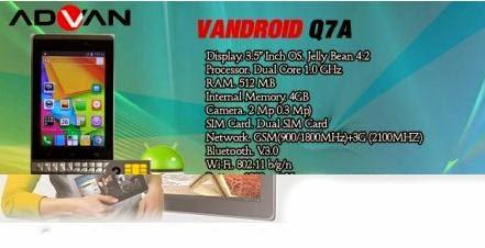 Advan Vandroid Q7A Seputar Dunia Ponsel Dan HP