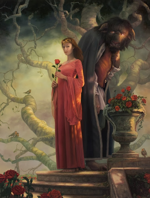 beauty and the beast,allen douglas,digital art