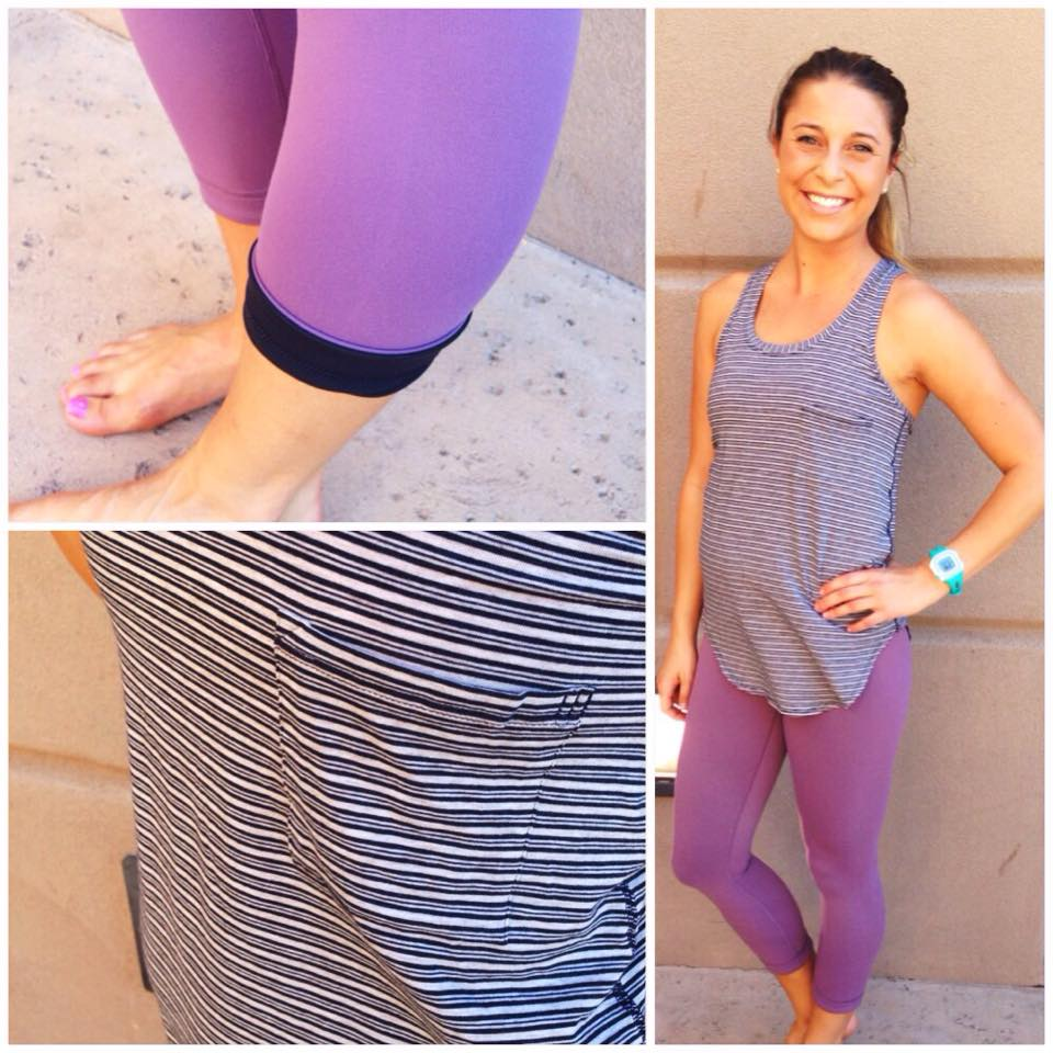 lululemon purple fog wunder under yoga racer tank