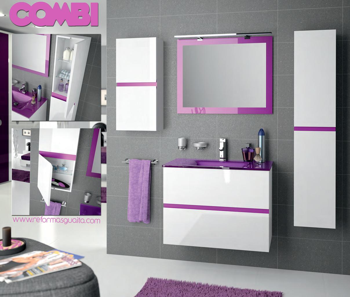 COMBI, muebles para darle un toque de color al baño ~ Reformas Guaita
