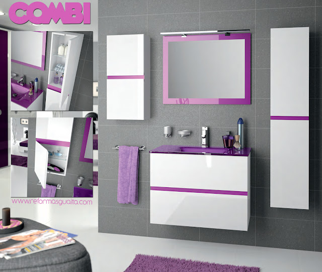 Decoración Baño Lila:Banos De Color Morado