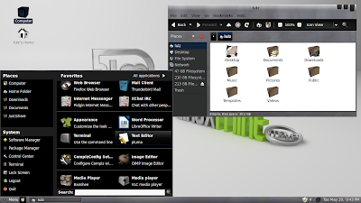 beautiful Linux Mint desktop