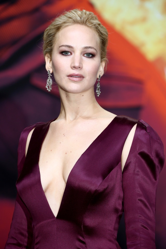 Jennifer Lawrence in Dior at World Premiere of Hunger Games Mockingjay Part 2