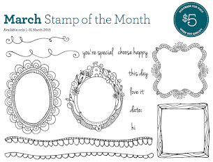 March Stamp Of The Month - Choose Happy!