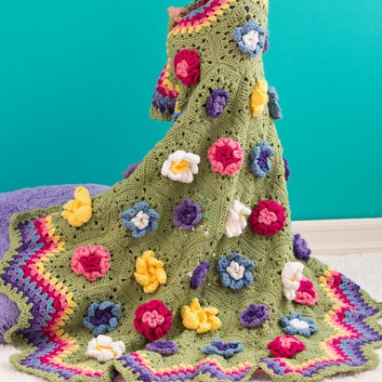Flower Garden Throw - Free Pattern
