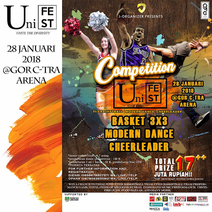 Kompetisi Basket, Cheerleader, Modern Dance UNIFEST 2018