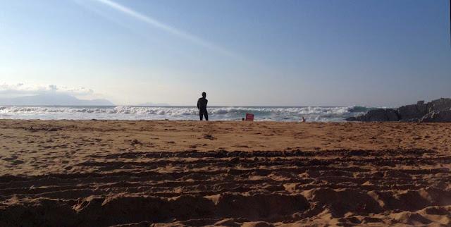 surfista calentando