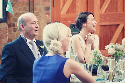 bride reaction to speech at St Chads place wedding